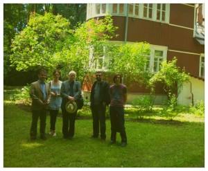 (l-r) Joe Woods, Catriona O'Reilly, Gerard Smyth, AJM, Ronan Kelly at Peredelkino, Russia